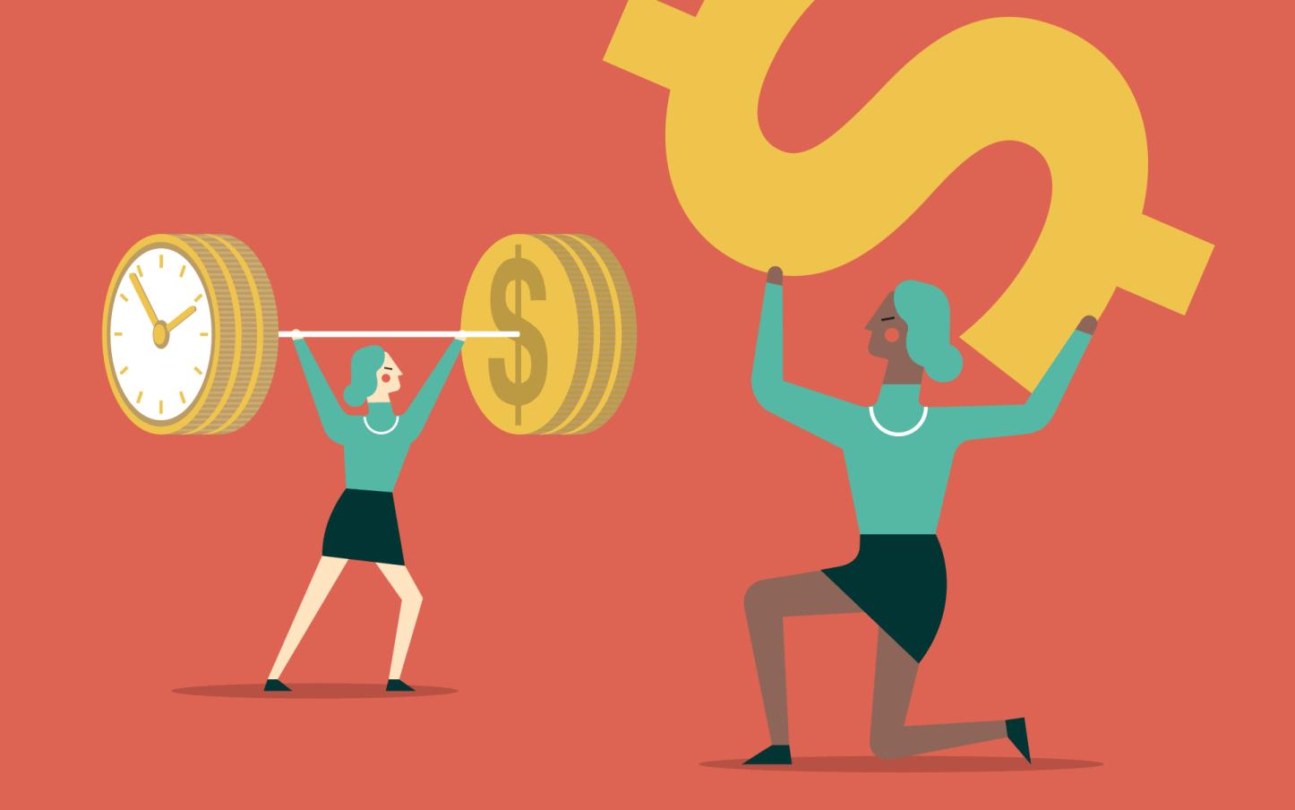 illustration of dollars